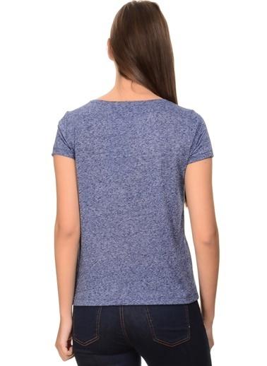 Only Only V Yaka Pembe T-Shirt Pembe